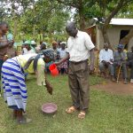 The Water Project: Kalenda B Community, Lumbasi Spring -  Handwashing Practice