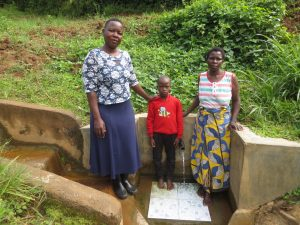 The Water Project:  Field Officer Betty With Moses And Agnetta