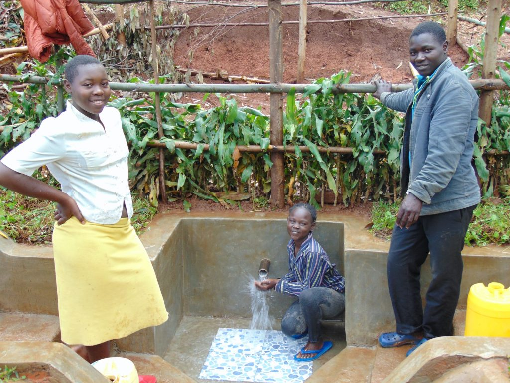 The Water Project : 36-kenya19159-smiles-at-the-spring