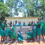 The Water Project: Bumbo Primary School -  Girls Celebrate New Latrines