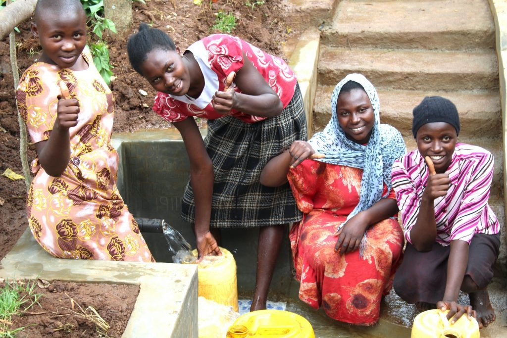 The Water Project : 38-kenya19115-women-give-thumbs-up