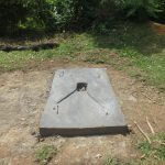 The Water Project: Kalenda A Community, Webo Simali Spring -  Completed Sanitation Slab