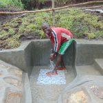 The Water Project: Bukhaywa Community, Shidero Spring -  Enjoying Spring Water