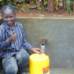 The Water Project: Imusutsu Community, Ikosangwa Spring -  Thumbs Up For Clean Water