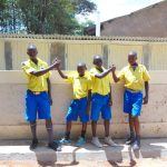 The Water Project: Saride Primary School -  Boys Posing At Vip Latrines