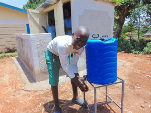 The Water Project:  Handwashing In Front Of Boys Latrines