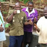 The Water Project: Namarambi Community, Iddi Spring -  Enjoying A Fresh Drink