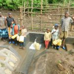 The Water Project: Rosterman Community, Lishenga Spring -  Kids Pose With The Spring