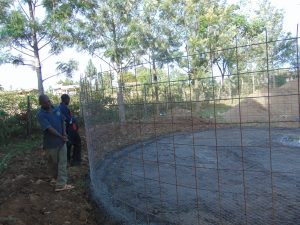 The Water Project:  Adjusting Wire For Tank Walls