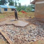 The Water Project: Bumbo Primary School -  Pouring Concrete Foundation