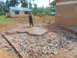 The Water Project:  Pouring Concrete Foundation