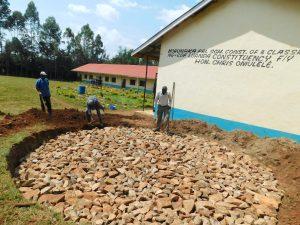 The Water Project:  Rain Tank Stone Foundation