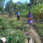 The Water Project: Kalenda B Community, Lumbasi Spring -  Kids Carry Bricks To Site