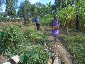 The Water Project:  Kids Carry Bricks To Site