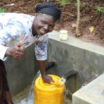The Water Project: Namarambi Community, Iddi Spring -  Easy Filling Up