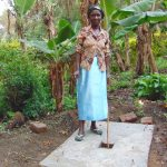The Water Project: Mubinga Community, Mulutondo Spring -  New Sanitation Slab Owner