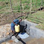 The Water Project: Emurumba Community, Makokha Spring -  Ready To Take Clean Water Home