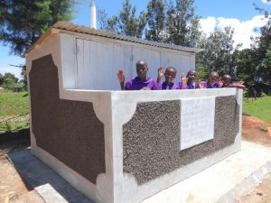 The Water Project:  Girls With New Latrines