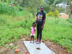 The Water Project:  New Sanitation Slab Owners