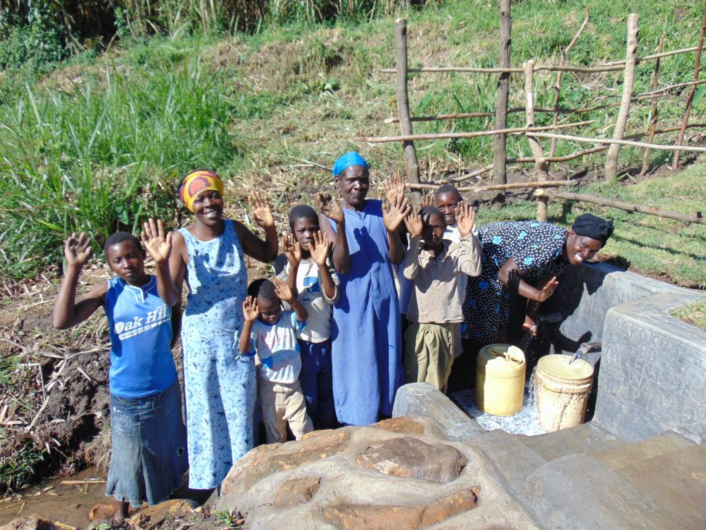 The Water Project : 42-kenya19154-celebrating-the-spring