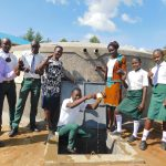 The Water Project: Sawawa Secondary School -  Teachers And Students Celebrating