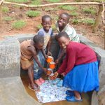 The Water Project: Maondo Community, Ambundo Spring -  Clean Cup Waterfall