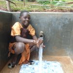 The Water Project: Kitulu Community, Kiduve Spring -  Enjoying The Spring Water