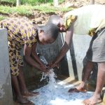 The Water Project: Kalenda B Community, Lumbasi Spring -  Smiles At The Spring