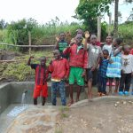 The Water Project: Bukhaywa Community, Shidero Spring -  Kids Celebrate The Spring