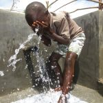 The Water Project: Kalenda A Community, Webo Simali Spring -  Cooling Off