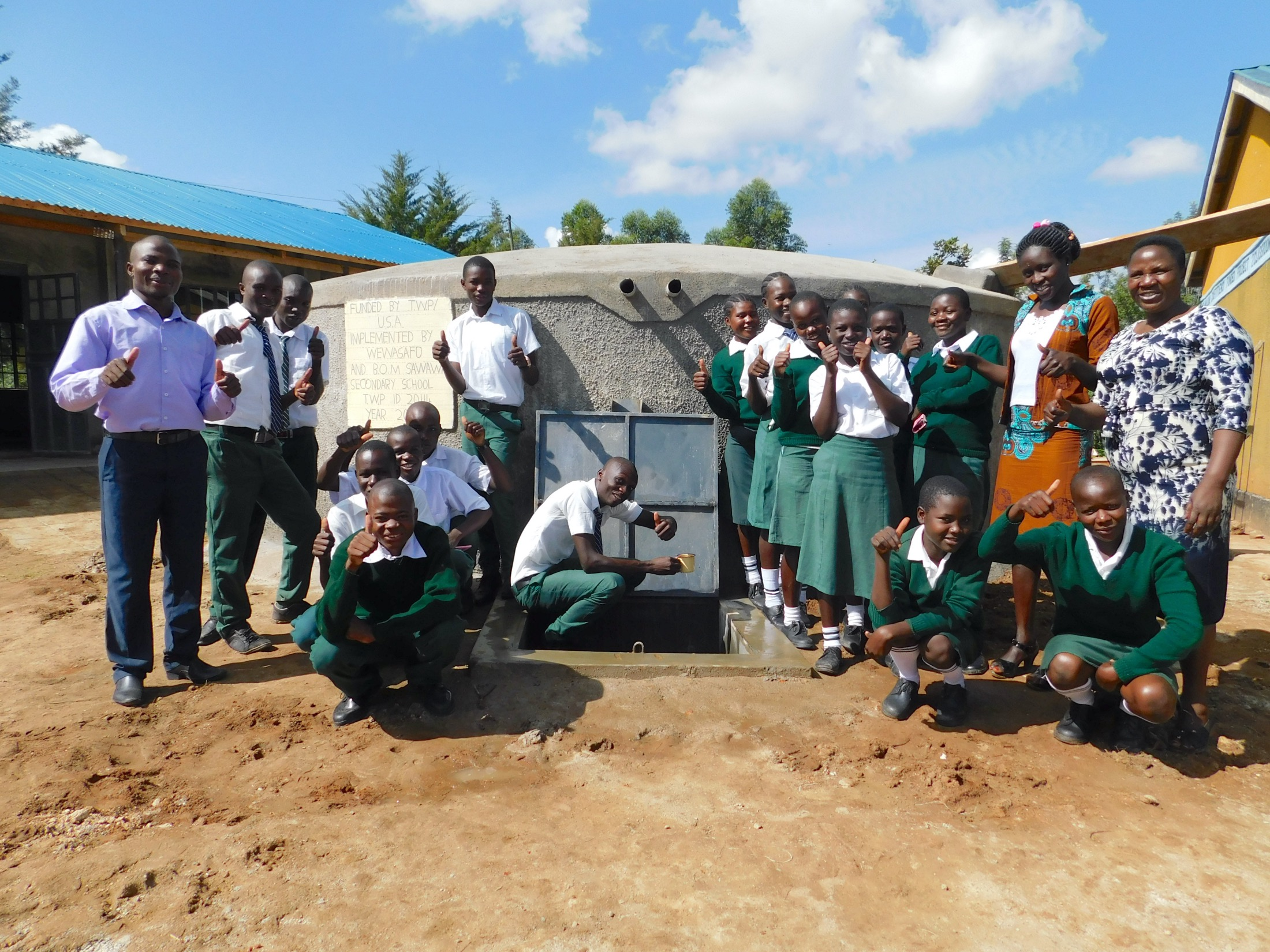 The Water Project : 45-kenya20114-entire-student-health-club-celebrates