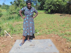 The Water Project:  New Latrine Slab Owner