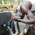 The Water Project: Kalenda B Community, Lumbasi Spring -  Cooling Off