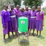 The Water Project: Chiliva Primary School -  Girls With Handwashing Station