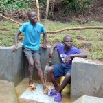 The Water Project: Mubinga Community, Mulutondo Spring -  Shy Smiles At The Spring