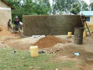 The Water Project:  Rain Tank Wall Construction