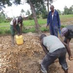 The Water Project: Chiliva Primary School -  Mixing Concrete