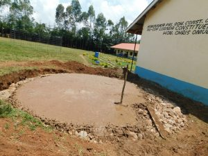 The Water Project:  Concrete Added To Foundation