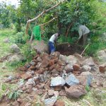 The Water Project: Musiachi Community, Mutuli Spring -  Community Mining Stones