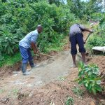 The Water Project: Mukangu Community, Metah Spring -  Mixing Cement
