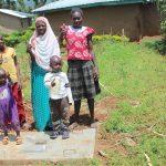The Water Project: Namarambi Community, Iddi Spring -  New Sanitation Slab Owners