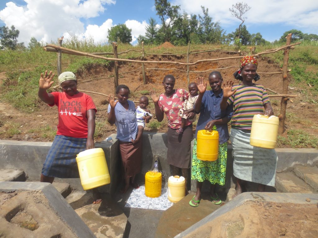 The Water Project : 50-kenya19127-women-and-children-say-thank-you