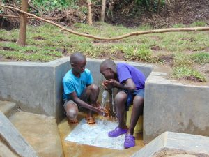 The Water Project:  Enjoying A Fresh Drink