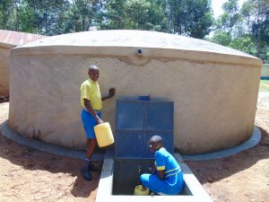 The Water Project:  Pupils Fetching Water From The Tank