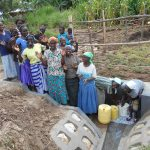 The Water Project: Kalenda B Community, Lumbasi Spring -  Women Celebrate The Spring