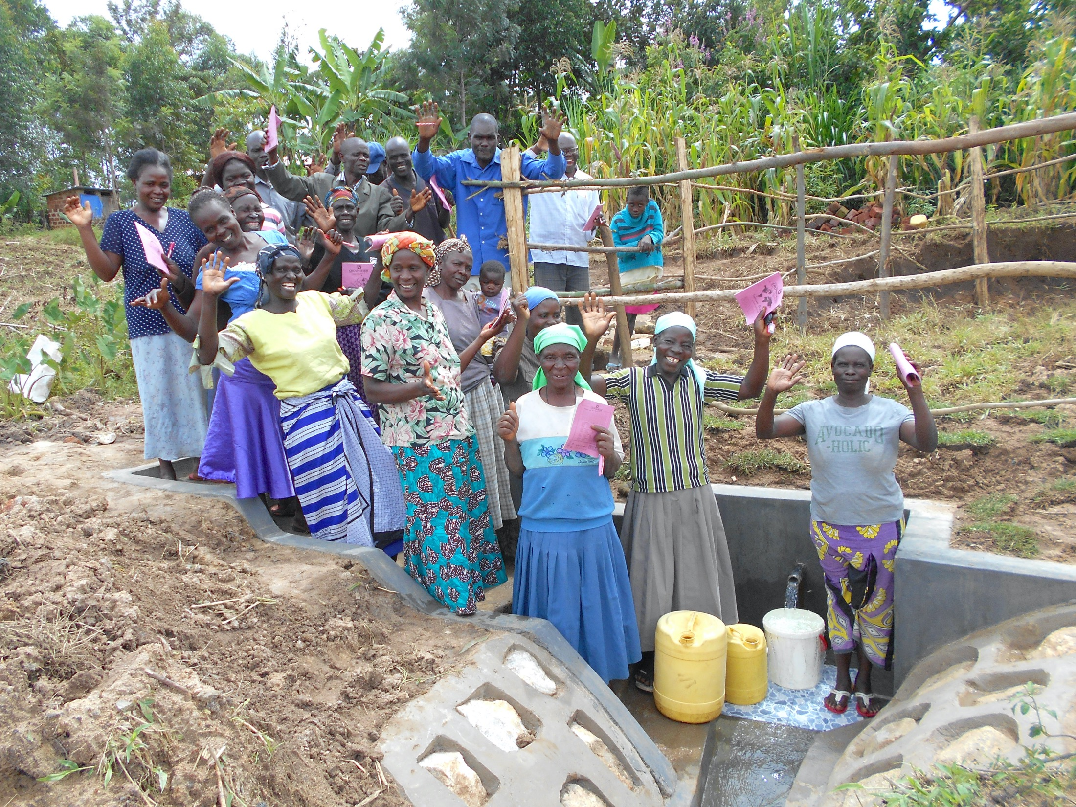 The Water Project : 56-kenya19140-community-celebrates-the-spring