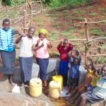 The Water Project: Maondo Community, Ambundo Spring -  Celebrating The Spring