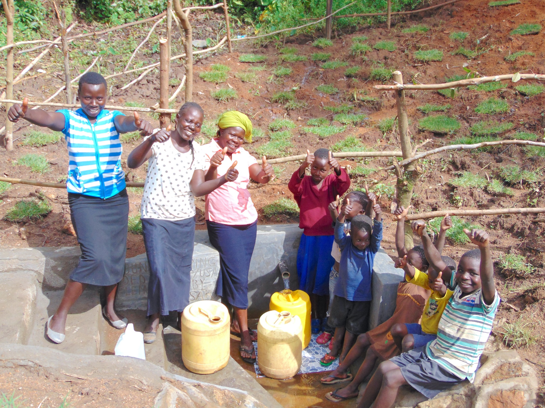 The Water Project : 57-kenya19134-celebrating-the-spring