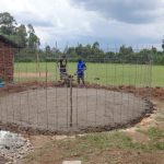 The Water Project: Chiliva Primary School -  Foundation Laid
