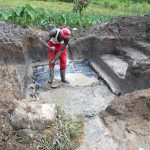 The Water Project: Kalenda A Community, Webo Simali Spring -  Setting The Foundation